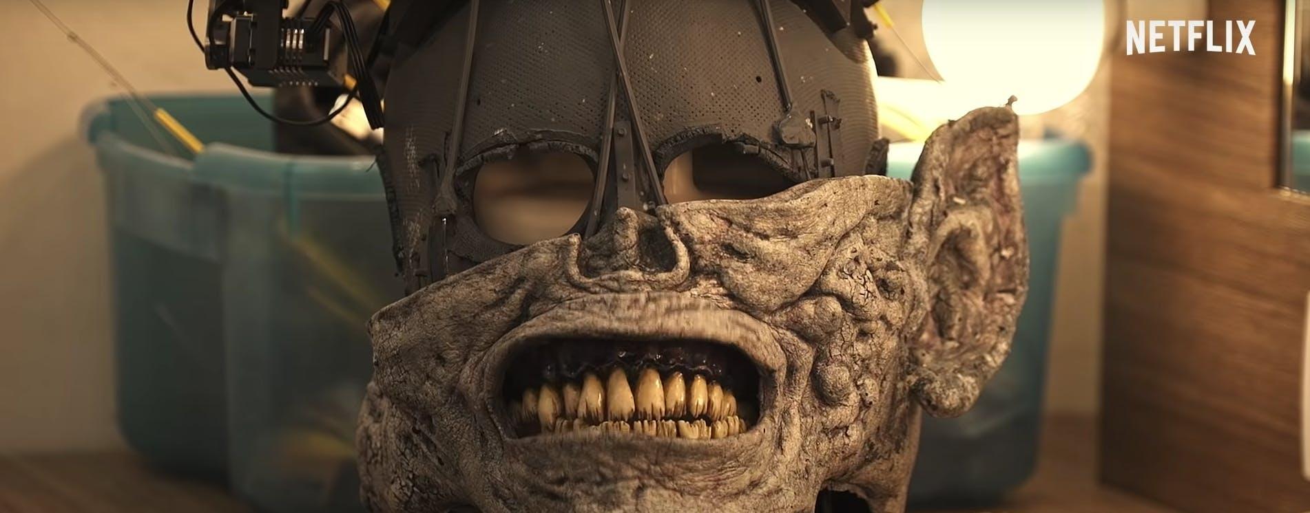 Blind monster animatronic head