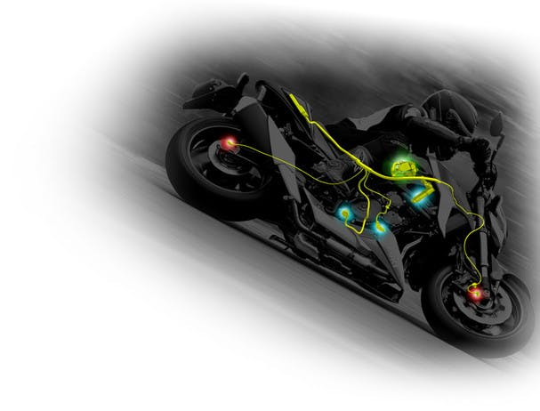 SUZUKI GSX-S750 three-mode traction control system