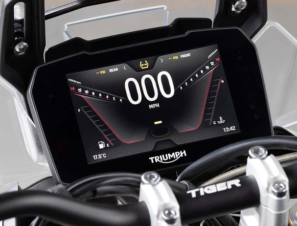 Tiger 900 Rally Pro TFT screen