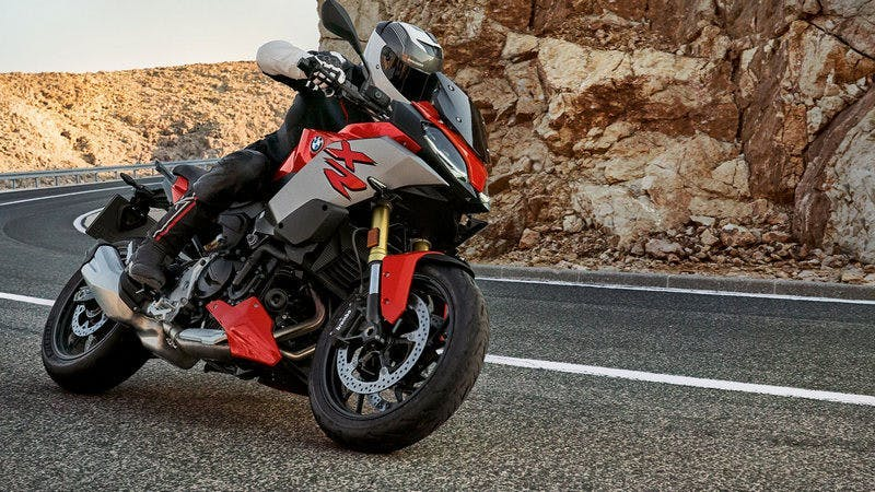 BMW F 900 XR on the road