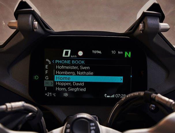 BMW R 1250 RS EXCLUSIVE TFT display