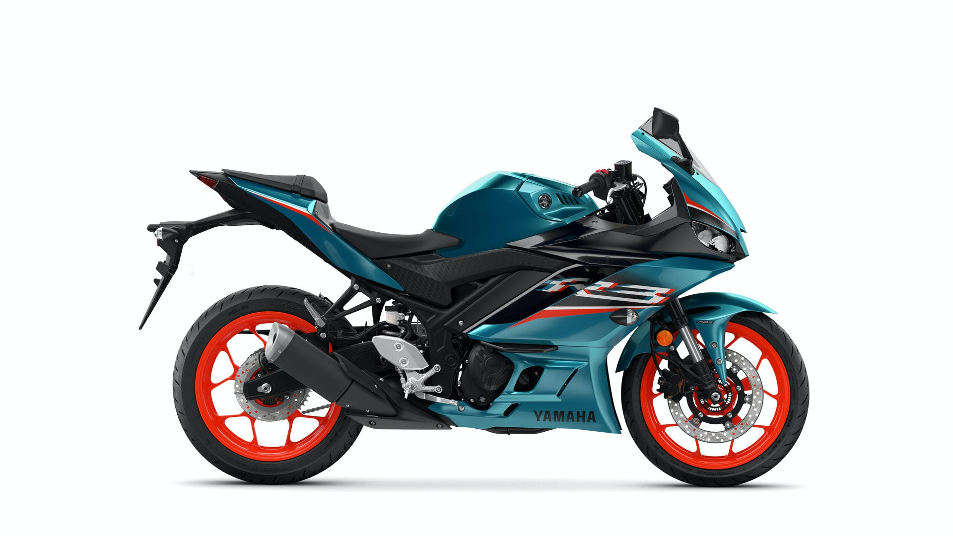 Yamaha YZF-R3 in electric teal colour