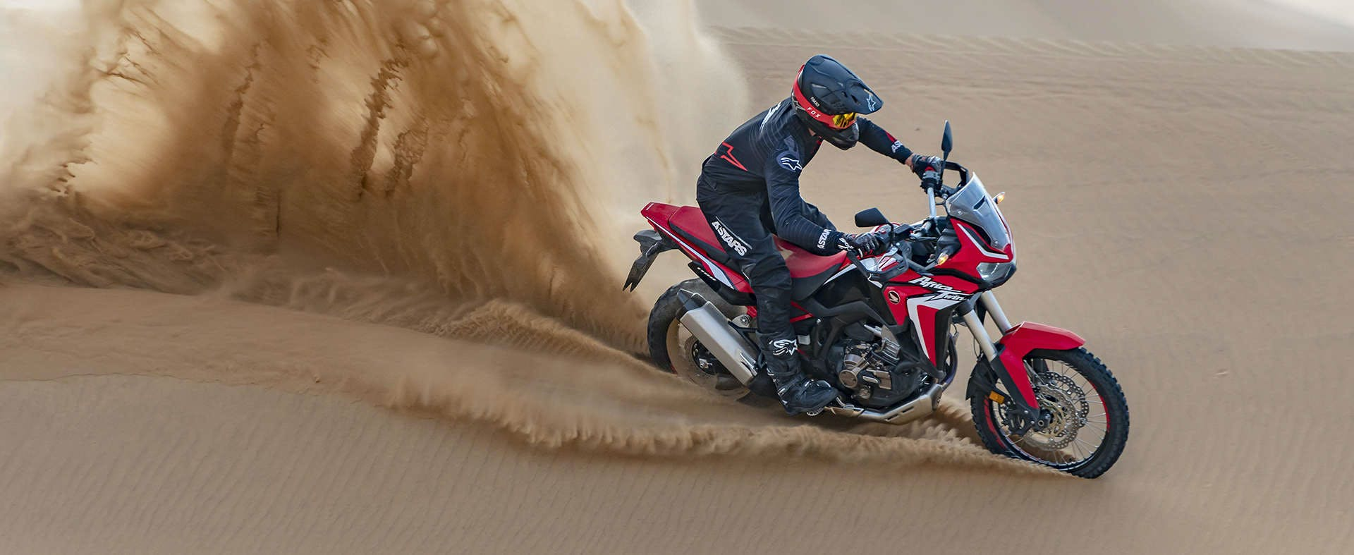 Honda Africa Twin 1100 on sand track