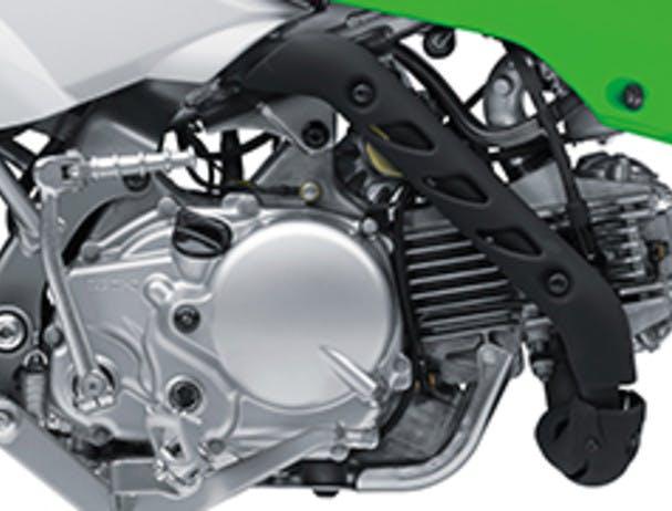 KAWASAKI KLX110R engine close up