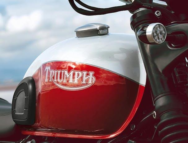 Triumph Bud Ekins T100 fuel tank with logo
