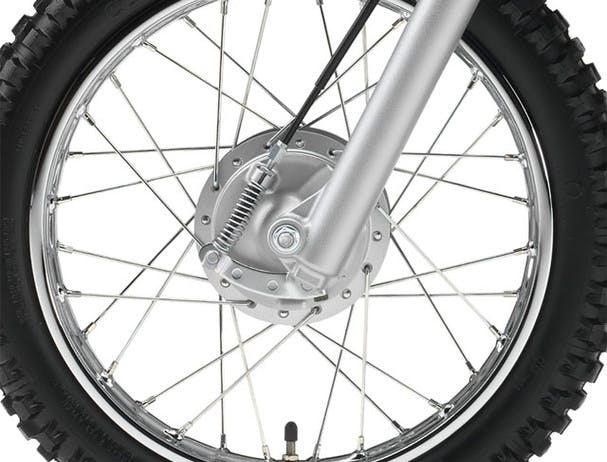 Yamaha TT-R110E drum brakes