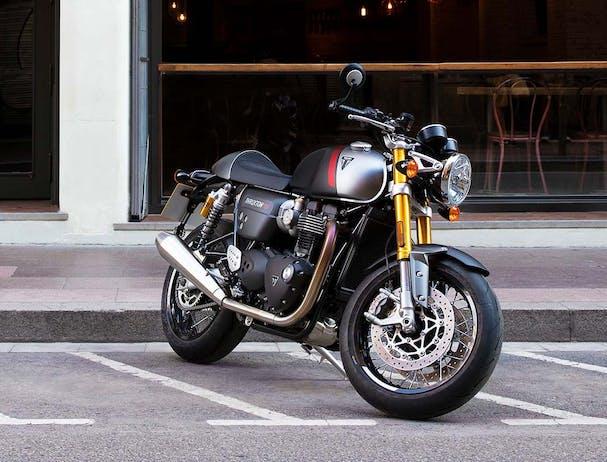Triumph Thruxton RS parked