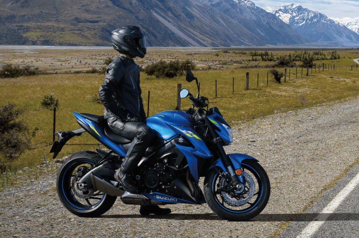SUZUKI GSX-S1000 with a rider