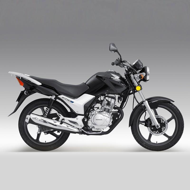 Honda CB125E in pearl procyon black colour