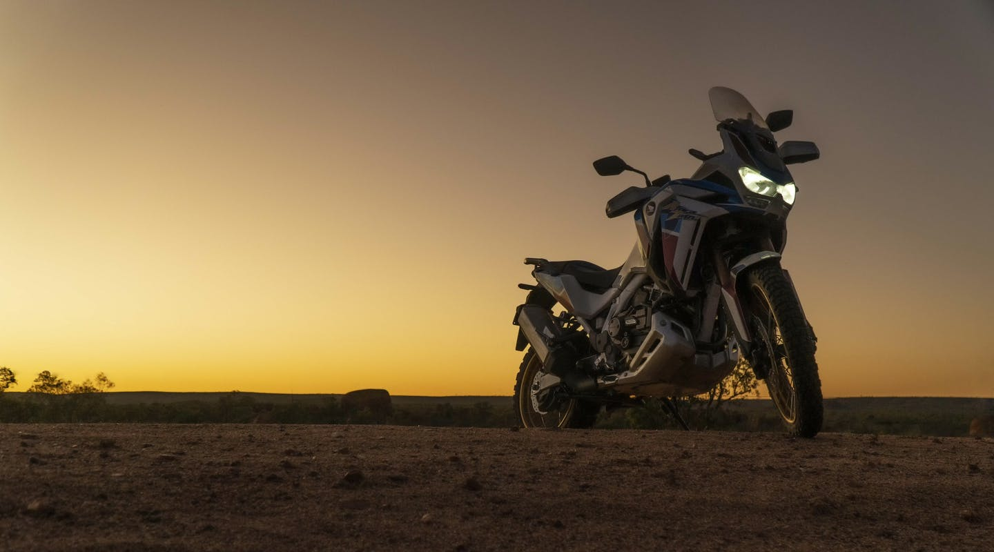 Honda Africa Twin Adventure Sports DCT (ES), parked