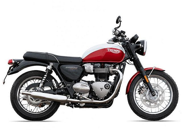 Triumph Bud Ekins T100 in red and white colour.