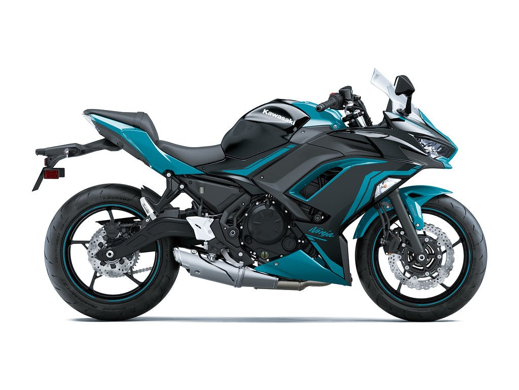 Kawasaki Ninja 650L SE in Metallic Spark Black With Pearl Nightshade Teal colour