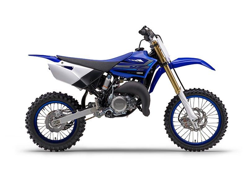 Yamaha YZ85 in team yamaha blue and white colour