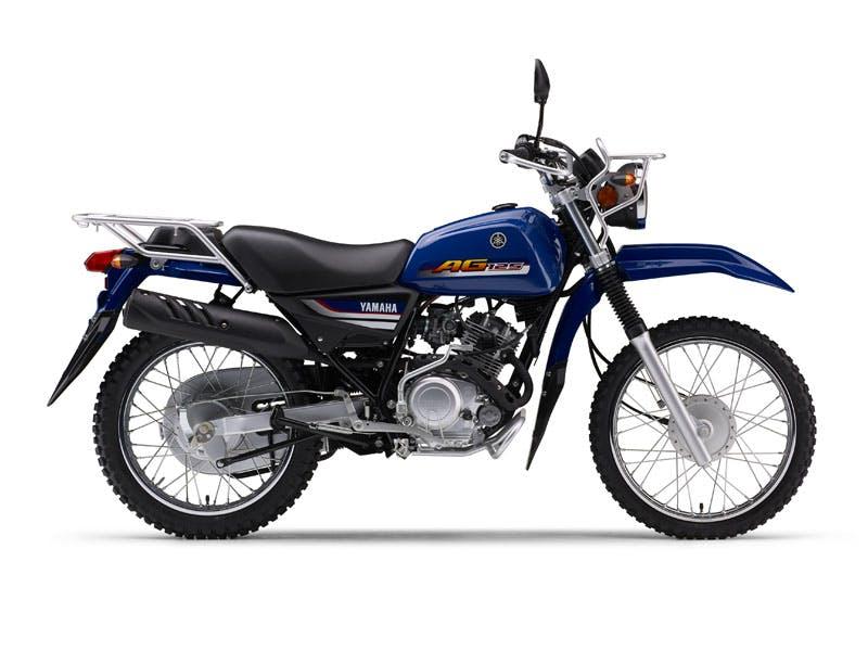 Yamaha AG125 motorcycle in Yamaha Blue colour