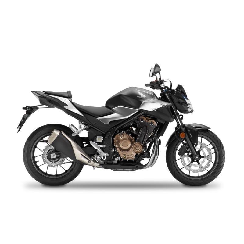 Honda CB500F in Matte Gunpowder Black Metallic colour