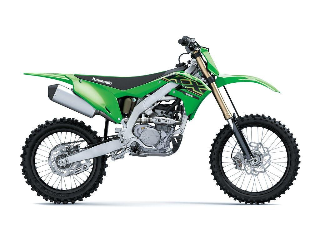 Kawasaki KX250 in Lime Green colour