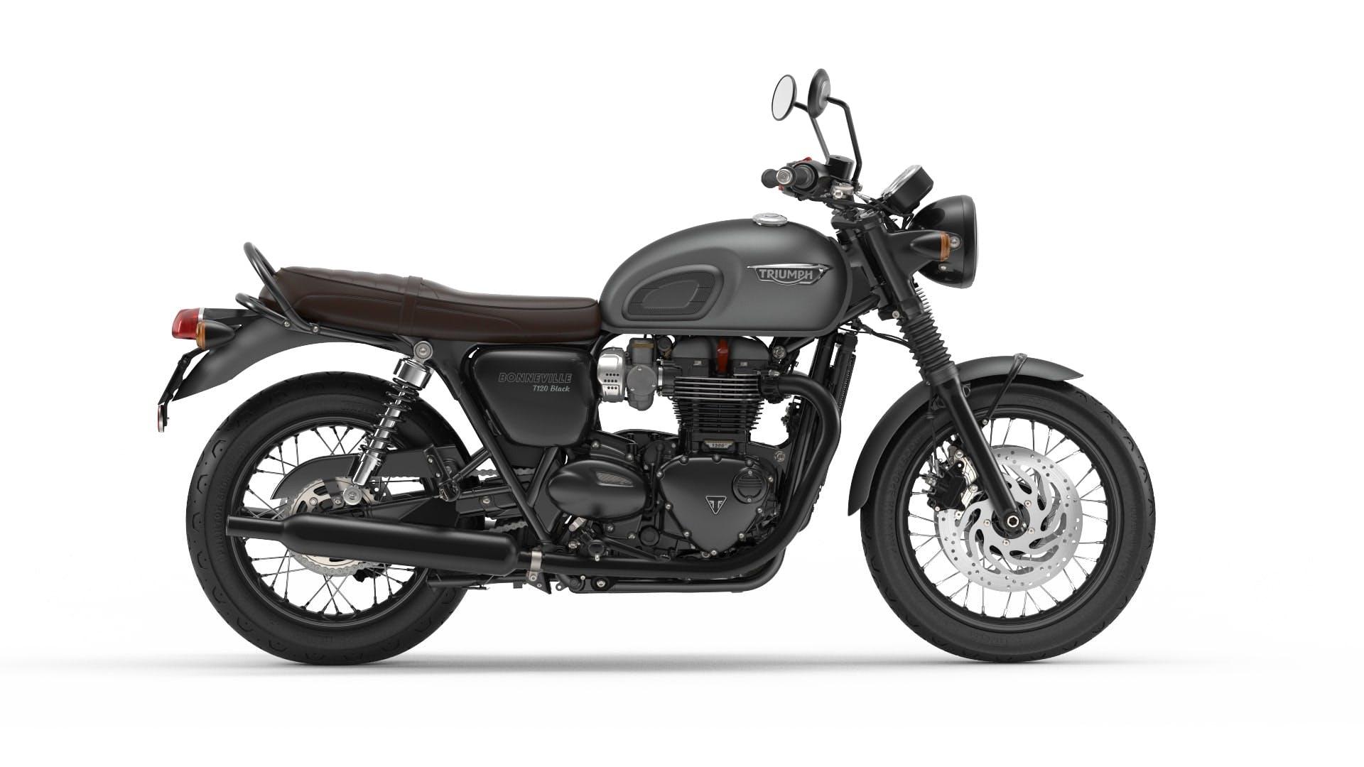 TRIUMPH Bonneville T120 Black in matt graphite colour