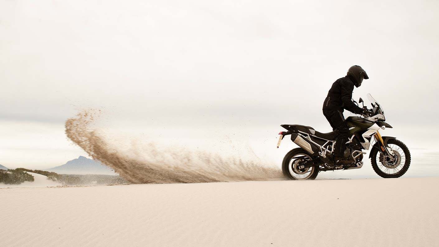Triumph Tiger 900 in action.