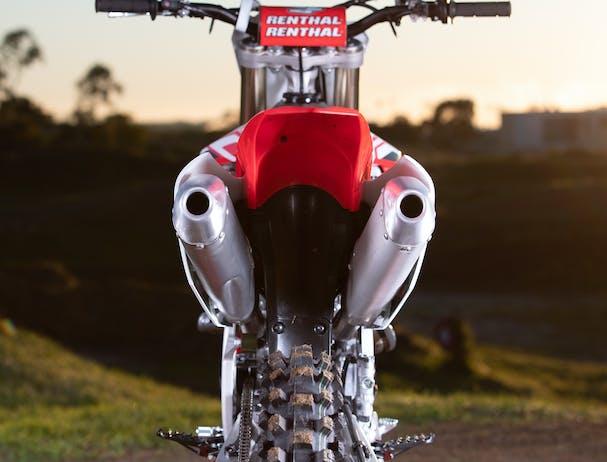 Honda CRF250R double exhaust