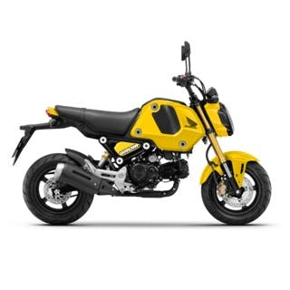 Honda GROM in Pearl Queen Bee Yellow colour