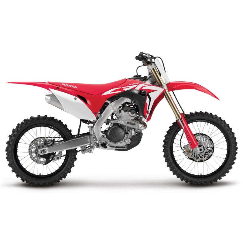 Honda CRF250R in extreme red colour