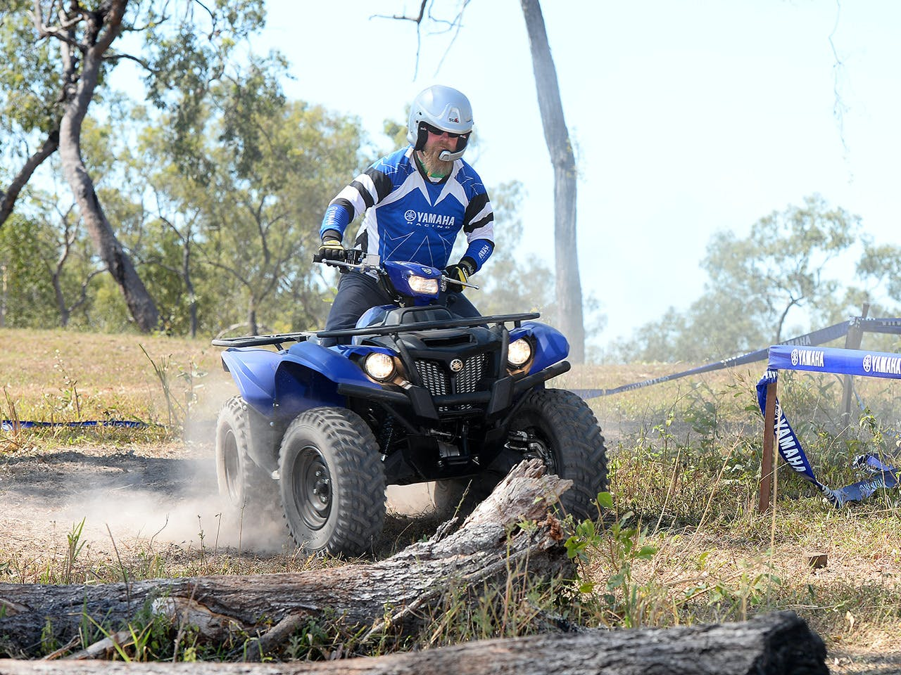 Yamaha Kodiak 700 EPS on off road track