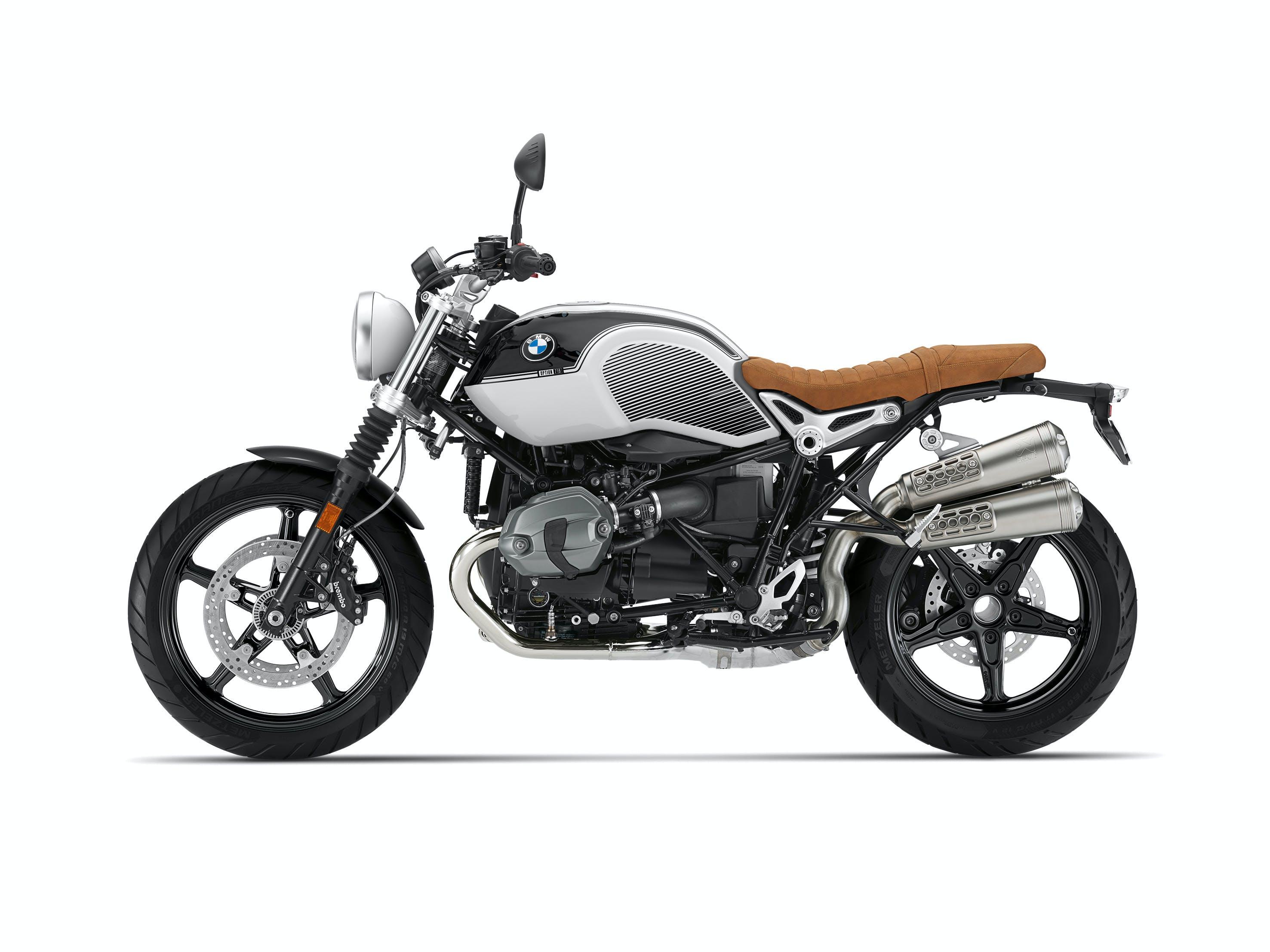 BMW R NINET SCRAMBLER SPEZIAL in opt 719 black storm metallic / light white colour
