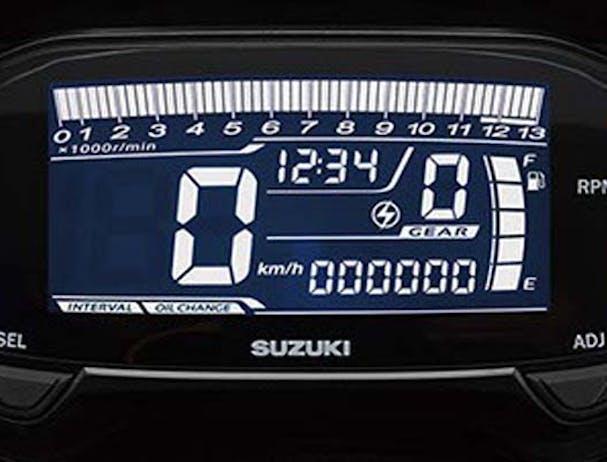 Suzuki GSX-R125 LCD instrumentation