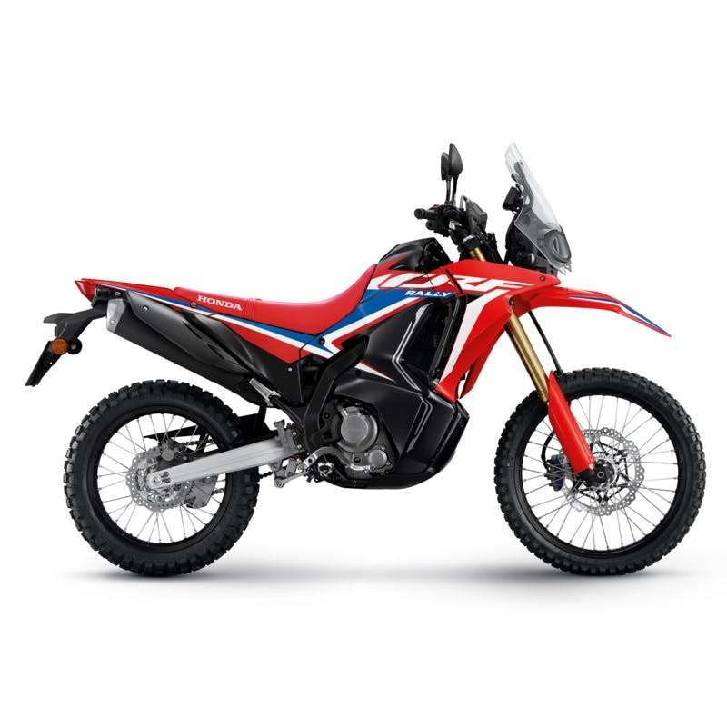 CRF300 Rally in extreme red colour