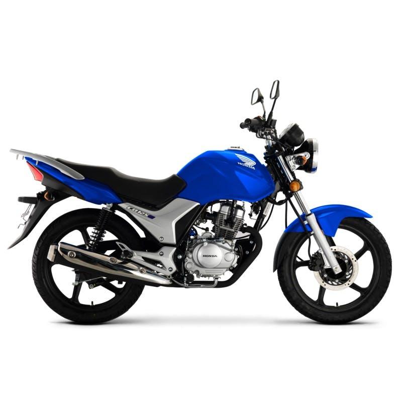 Honda CB125E in Glint Wave Blue Metallic colour