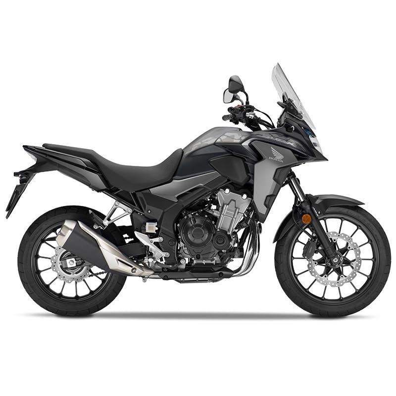 Honda CB500X in matte gunpowder black metallic colour