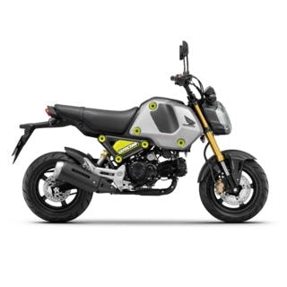 Honda GROM in Force Silver Metallic colour