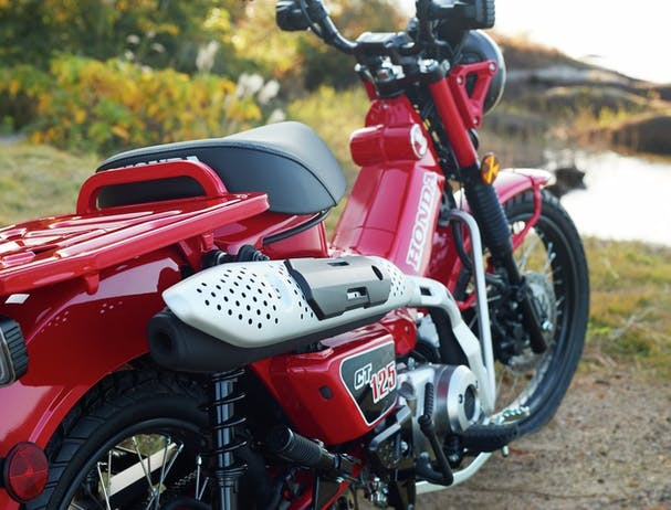 HONDA CT125 in glowing red colour