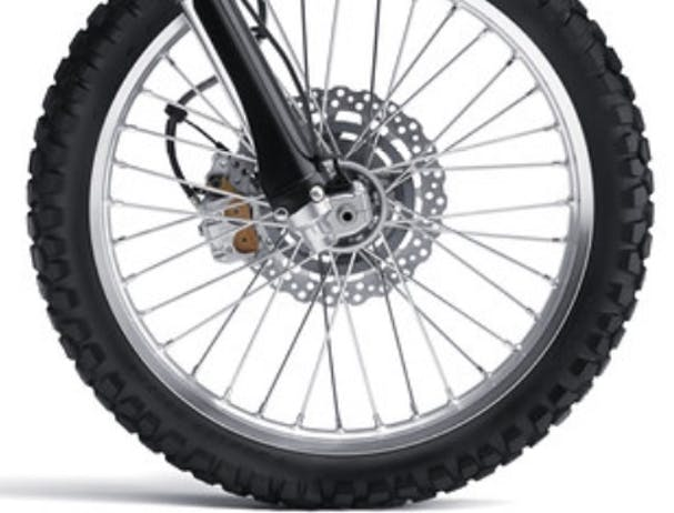 Kawasaki KLX250S wheels