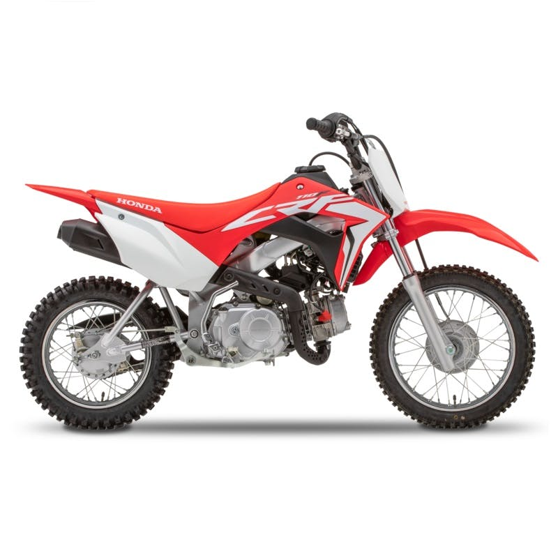 Honda CRF110F in extreme red colour