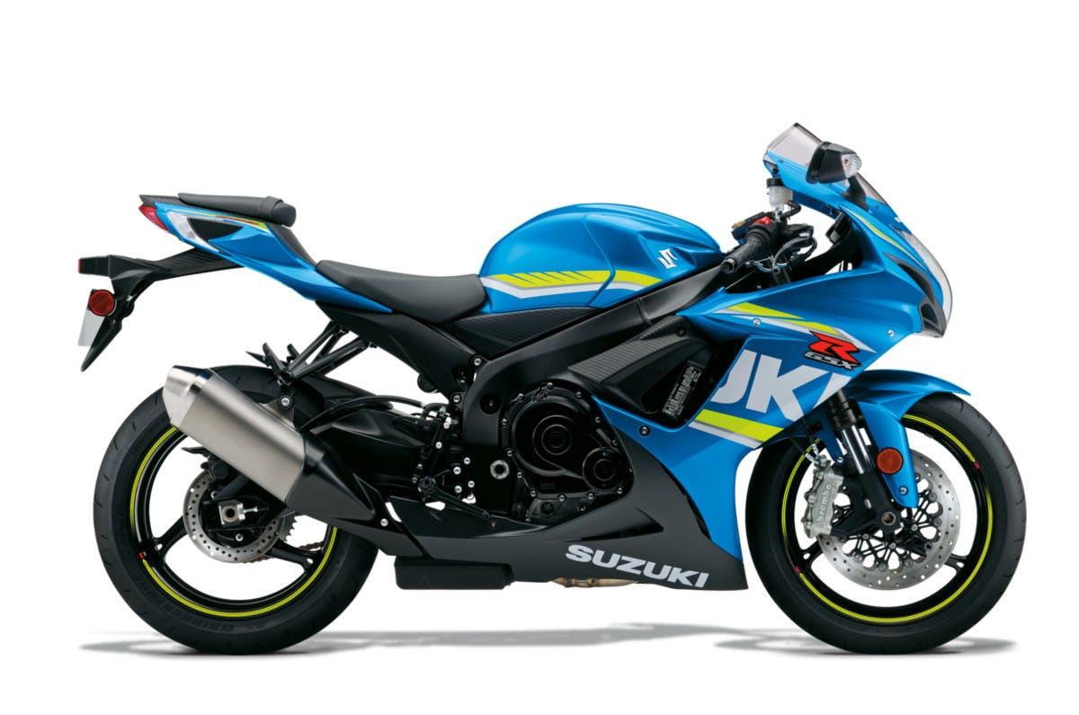 SUZUKI GSX-R600 in metallic triton blue colour