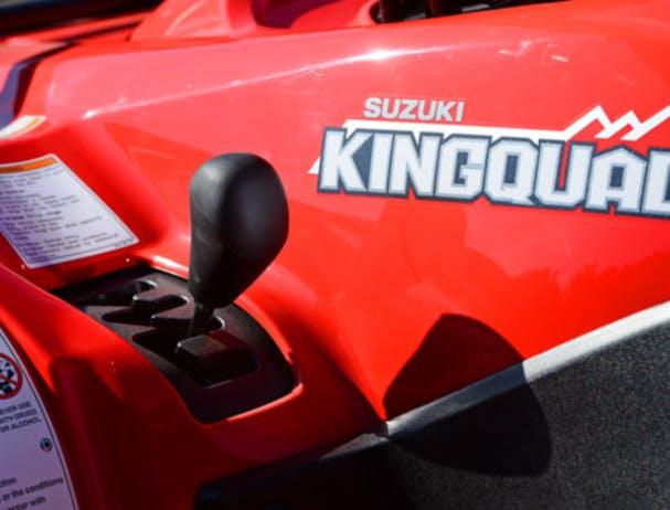 SUZUKI KINGQUAD 400 FSI 4x4 mode selector lever