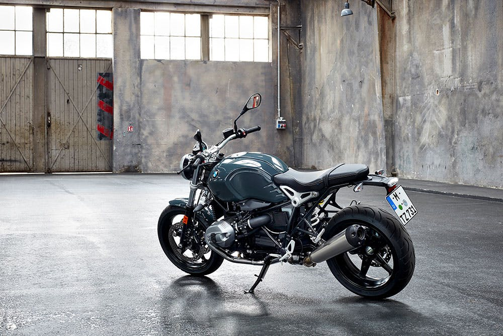BMW R nineT Pure, parked