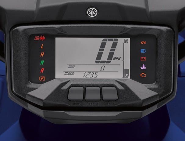 Yamaha Grizzly 700 digital LCD instrumentation panel