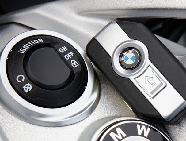 BMW K 1600 GT keyless start button