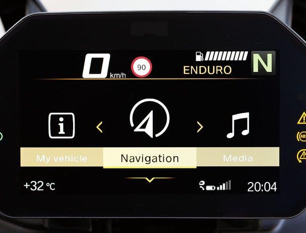 BMW F 850 GS Rallye Tft-display