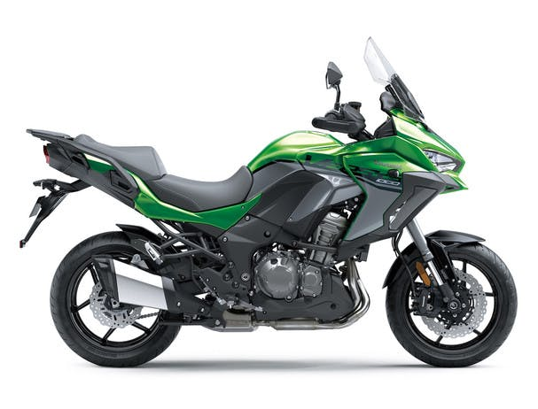 KAWASAKI VERSYS 1000 SE in emerald blazed green and pearl storm gray colour