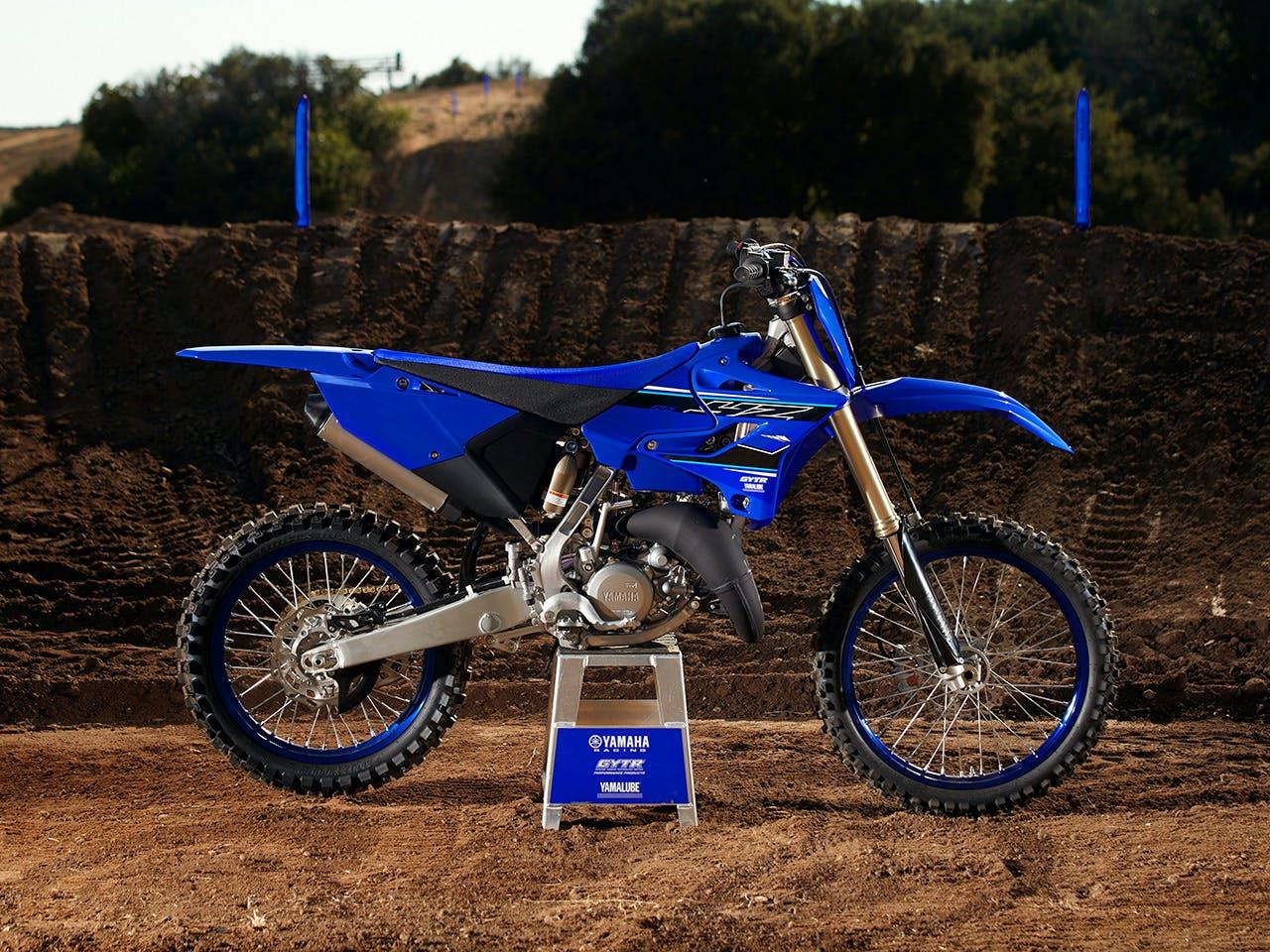 Yamaha YZ125 in team yamaha blue colour