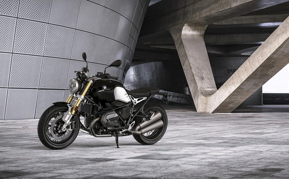 BMW R nineT Pure, parked.