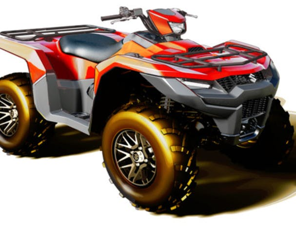 SUZUKI KINGQUAD 500AXI 4x4 in flame red colour