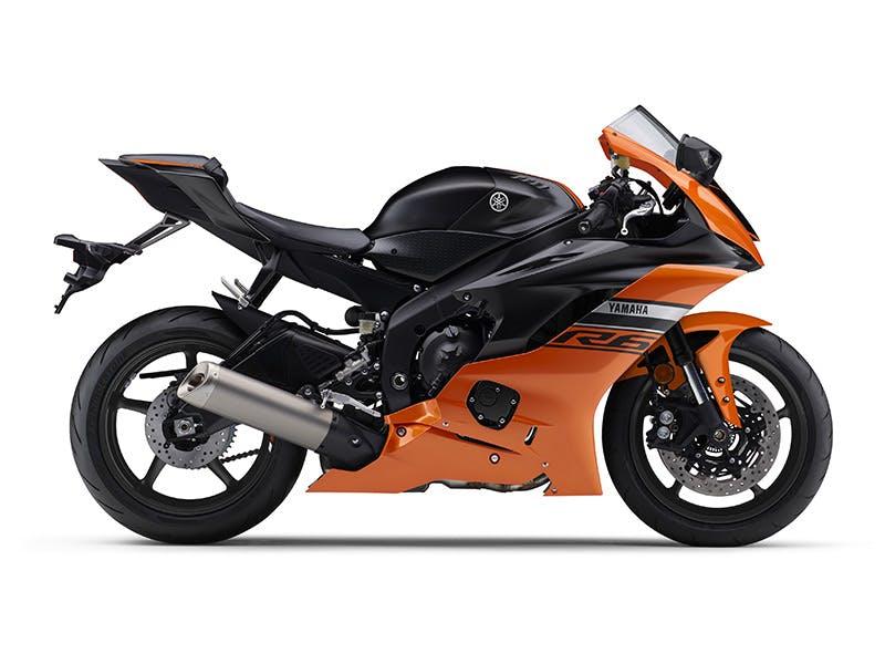 Yamaha YZF-R6 in Vivid Orange - Matt Black colour