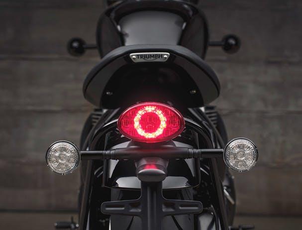 TRIUMPH BONNEVILLE BOBBER BLACK LED rear light