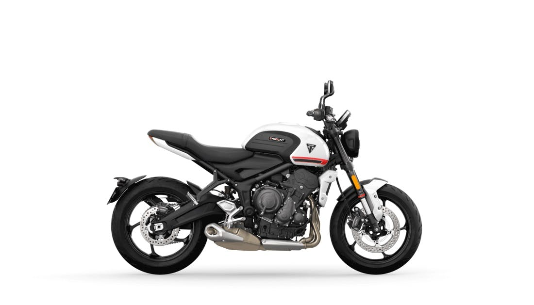 Triumph Trident 660 in crystal white colour
