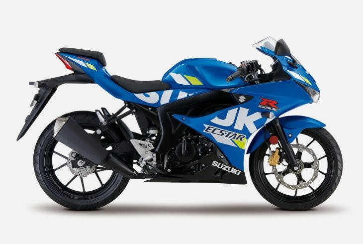 Suzuki GSX-R125 in metallic triton blue colour