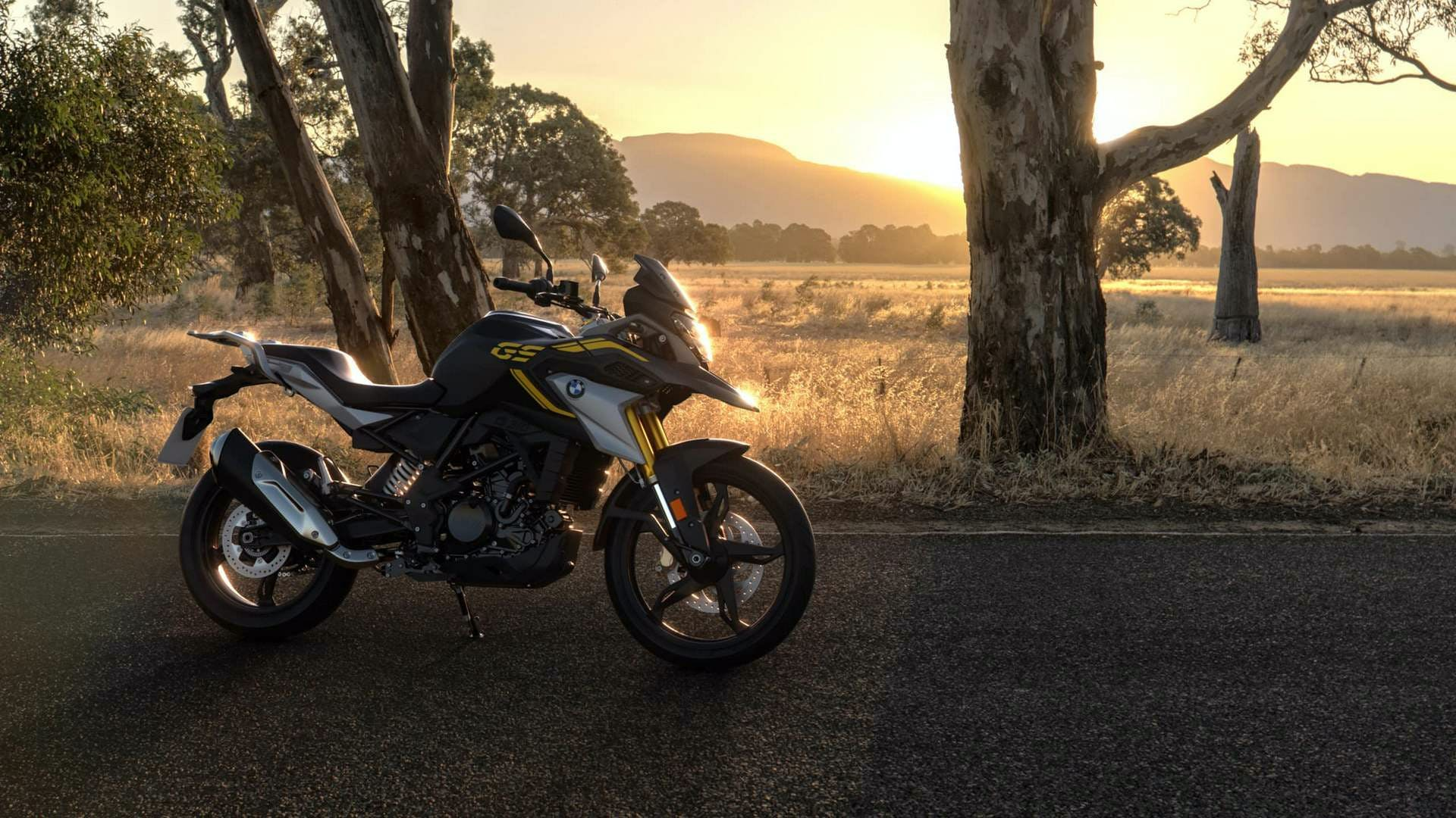 BMW G 310 GS 40 Years GS Edition, parked